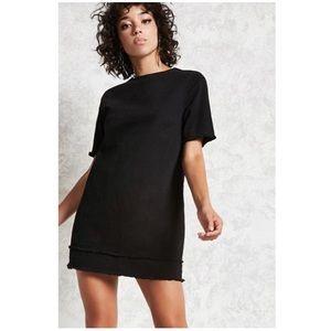 Black Denim Frayed Dress (never worn)